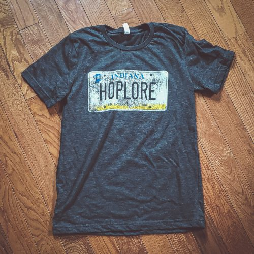 HopLore Brewing License Plate Tee