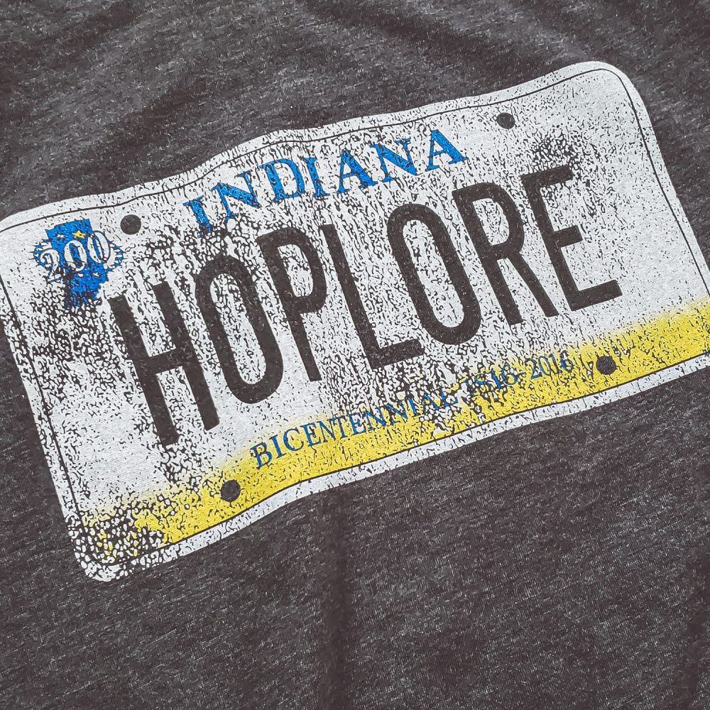 HopLore Brewing License Plate Tee