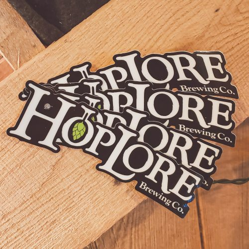 HopLore Brewing Logo Glow in the Dark Stickers