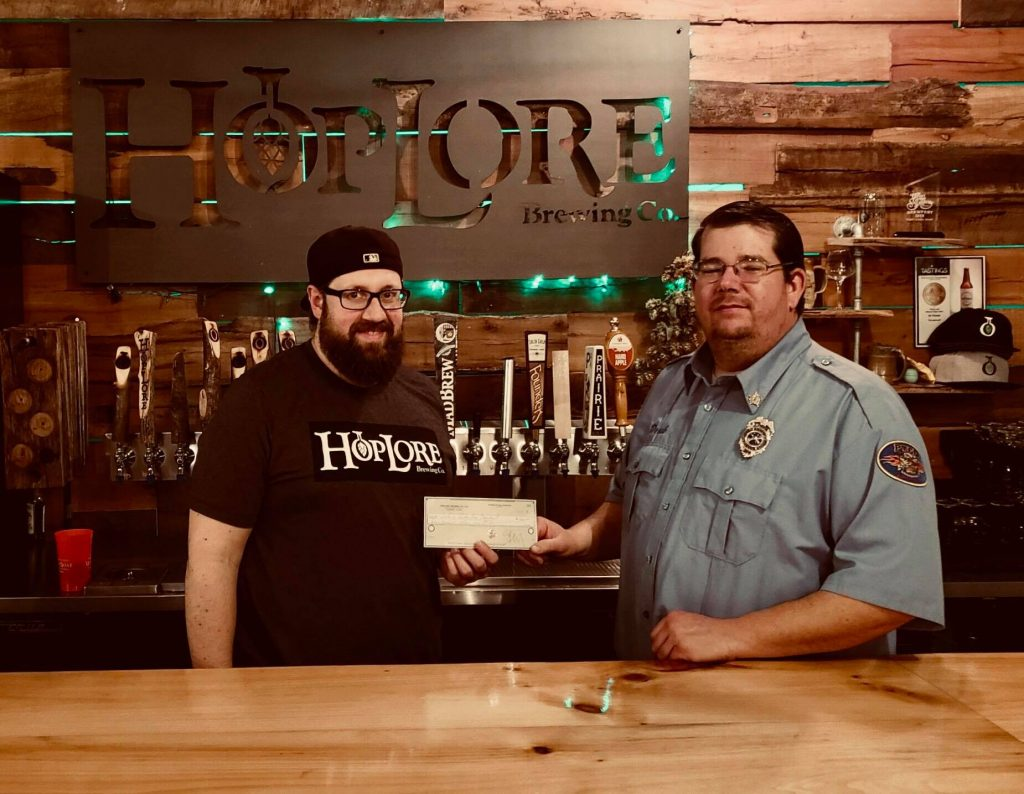 Four Hundred raised for Hoosier Burn Camp by HopLore Brewing